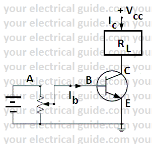 switching action of transistor