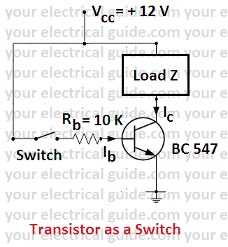 transistor as a switch theory