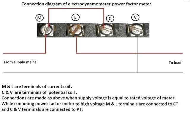power factor meter connection image