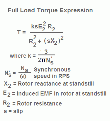 Torque Formula for Induction Motor - your electrical guide