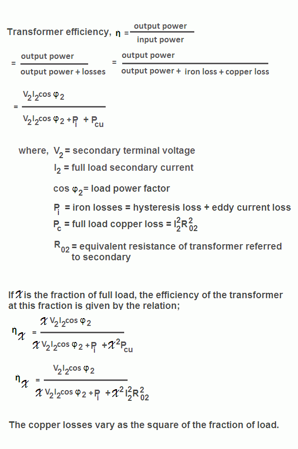 Transformer Efficiency Formula - your electrical guide