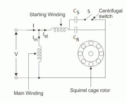 two value capacitor motor