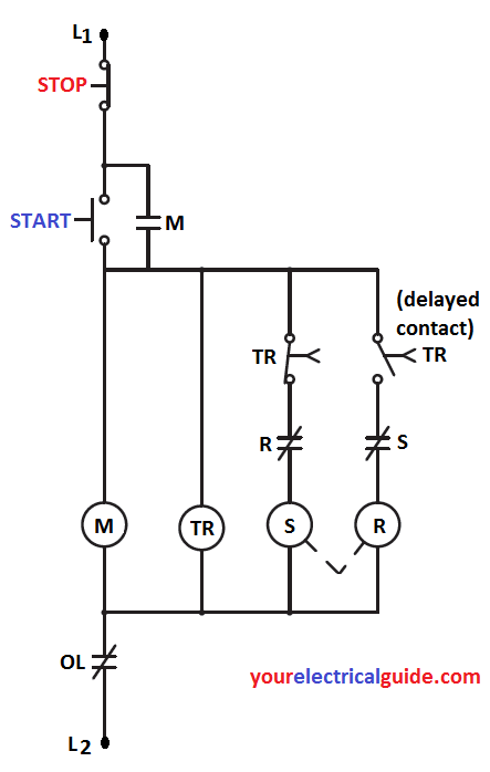 autotransformer starter working and control circuit diagram